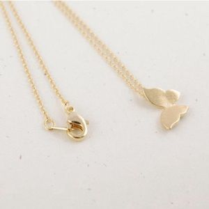 Jewelry - 5 for $25 14k gold mini butterfly necklace